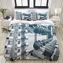 GUVICINIR Duvet Cover Set Stain Fade Resistant