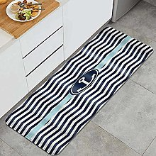 GUVICINIR Kitchen Mats Rug Washable,Navy Blue and