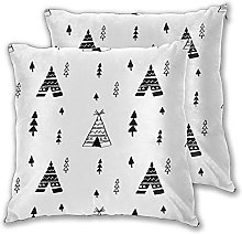 GUVICINIR Pack of 2,Tent Pattern Tipi Vintage