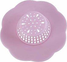 GUYAQ Shower Drain Covers Silicone Flower-Shaped