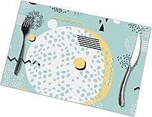 GuyIvan Art Placemats Plate Mats Table Mats