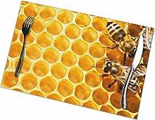 GuyIvan Bees Placemats Plate Mats Table Mats