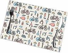 GuyIvan Bikes Placemats Plate Mats Table Mats