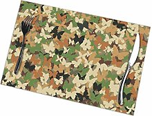 GuyIvan Camouflage Placemats Plate Mats Table Mats