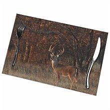 GuyIvan Deer Placemats Plate Mats Table Mats