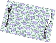 GuyIvan Dinosaurs Placemats Plate Mats Table Mats