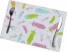 GuyIvan Feather Placemats Plate Mats Table Mats
