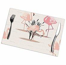 GuyIvan Flamingo Placemats Plate Mats Table Mats