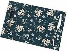 GuyIvan Flower Placemats Plate Mats Table Mats