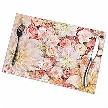 GuyIvan Flowers Placemats Plate Mats Table Mats