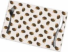 GuyIvan Hedgehog Placemats Plate Mats Table Mats
