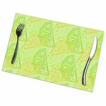 GuyIvan Lemon Placemats Plate Mats Table Mats