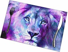 GuyIvan Lion Placemats Plate Mats Table Mats