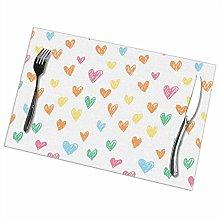 GuyIvan Love Placemats Plate Mats Table Mats