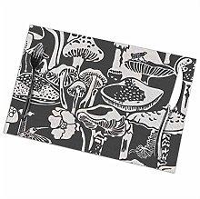 GuyIvan Mushroom Placemats Plate Mats Table Mats