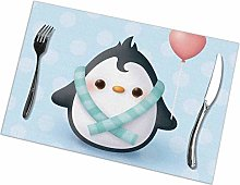 GuyIvan Penguin Placemats Plate Mats Table Mats