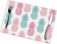 GuyIvan Pineapples Placemats Plate Mats Table Mats