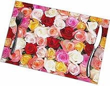 GuyIvan Rose Placemats Plate Mats Table Mats