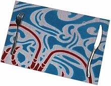 GuyIvan Shrimp Placemats Plate Mats Table Mats