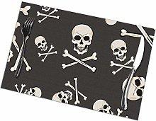 GuyIvan Skull Placemats Plate Mats Table Mats