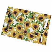 GuyIvan Sunflower Placemats Plate Mats Table Mats