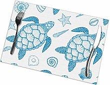 GuyIvan Tortoise Placemats Plate Mats Table Mats