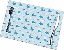 GuyIvan Whale Logo Placemats Plate Mats Table Mats
