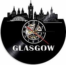 GVC 1Piece Glasgow Skyline Vinyl Clock Scotland