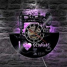 GVC 1Piece I Love Sewing Retro LED Wall Lamp Vinyl