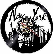 GVC 1Piece New York Cityscape Vinyl Record Wall