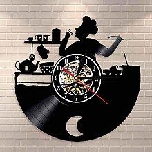 GVC Bon Appetit Kitchen Chef Wall Clock Cook Vinyl