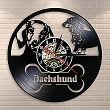 GVC Dachshund Dog Wall Clock Retro Wiener Dog
