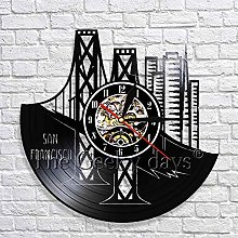 GVC San Francisco Cityscape Wall Clock Modern