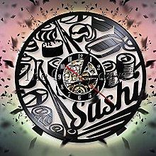 GVC Sushi Vinyl Clock Handmade Art Decor Original