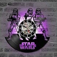 GVC Vinyl LP Record 3D Record Wall Clock Star Wars