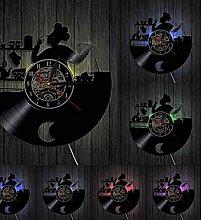 GVSPMOND Kitchen Chef'S Vinyl Wall Clock