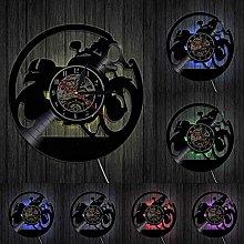GVSPMOND Motocross Vinyl Wall Clock Home Decor For