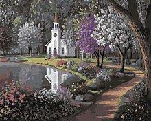 GVSPMOND Park House Adult Digital Painting Diy