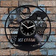 GVSPMOND Vinyl record wall clock food kitchen
