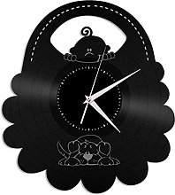 GVSPMOND Vinyl record wall clock gourmet kitchen