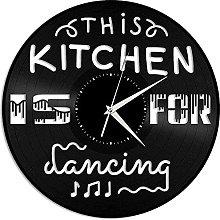 GVSPMOND Vinyl record wall clock This kitchen is a
