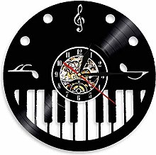 GVSPMOND Vinyl wall clock with piano keys and