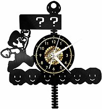 GVSPMOND Wall clock mushroom creative decoration