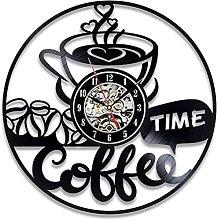 GVSPMOND Wall Clock Retro Decoration 3D Cafe Vinyl