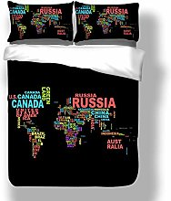 Gvvaceo® Duvet Cover Double Size Colorful english