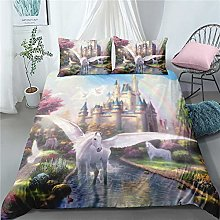Gvvaceo® Duvet Cover kings Size Fantasy animal
