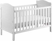GWAY Nursery Cot Bed Solid Pine Wood Baby Cot Bed