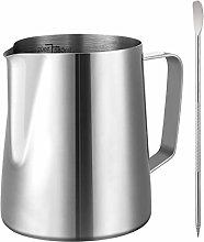 GWHOLE Milk Frother Jug 580ml 304 Stainless Steel