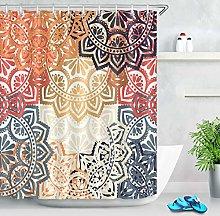 gwregdfbcv Abstract mandala flower shower curtain