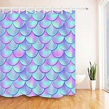 gwregdfbcv Abstract mermaid scale shower curtain